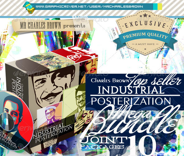 All-Charles-Brown-Industrial-Posterization-Bundle