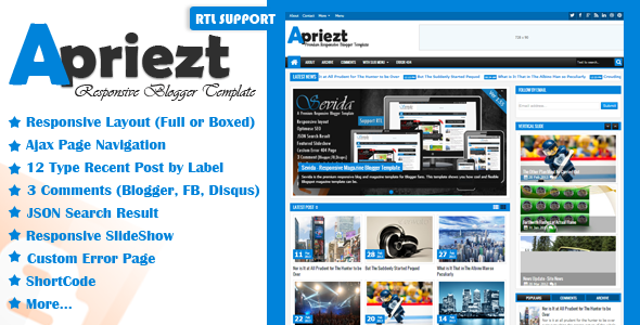 Apriezt - Responsive Magazine-News Blogger Theme