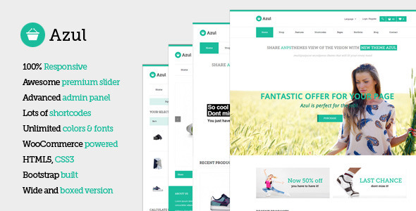 Azul - Responsive Multi-Purpose WooCommerce Theme
