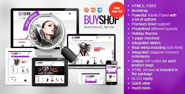 BUYSHOP - Premium Responsive Retina Magento theme