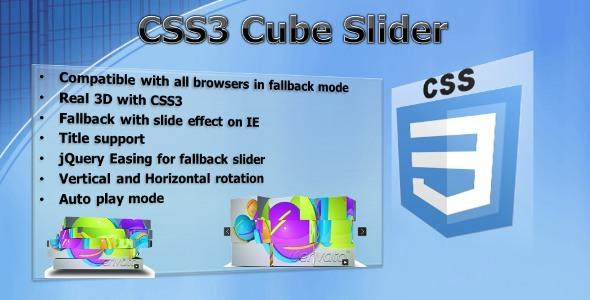 CSS3 Cube Slider - jQuery 3D slider