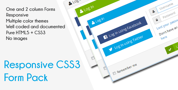 CSS3 Responsive Forms Pack