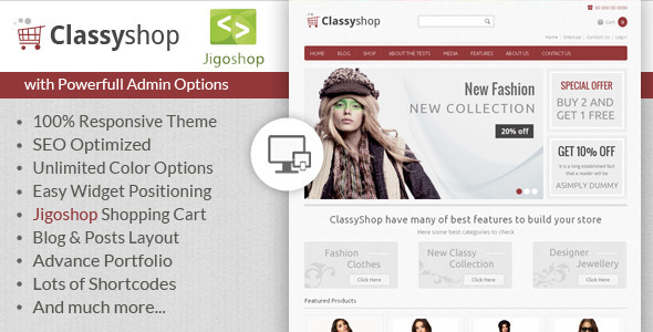 ClassyShop - WordPress Jigoshop Theme