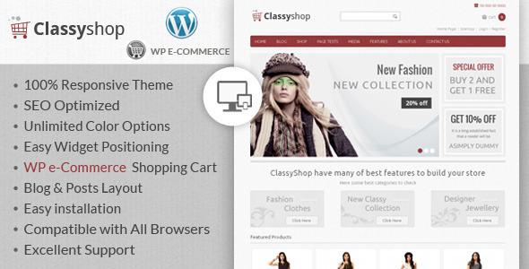 ClassyShop - WordPress E-Commerce Theme