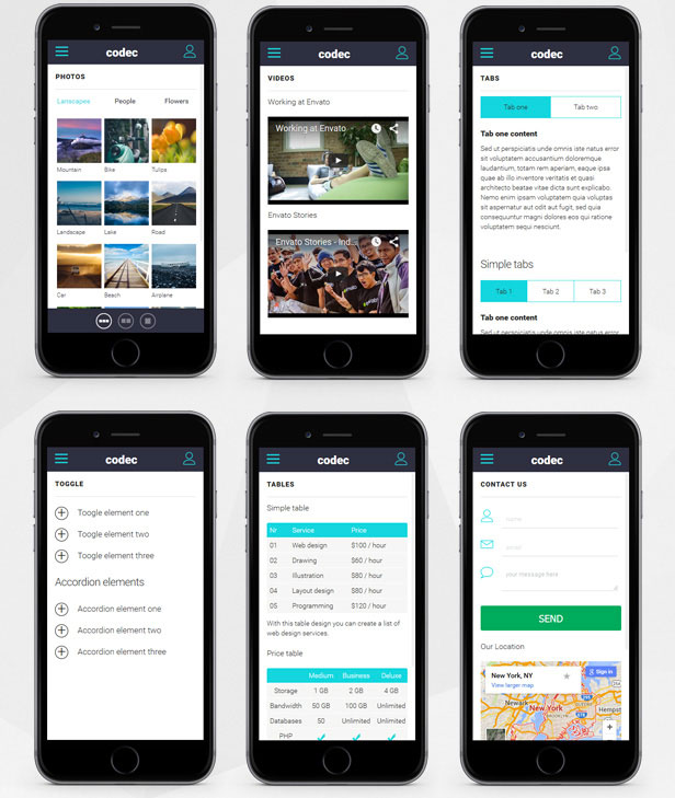 Codec-Mobile-HTML-Template