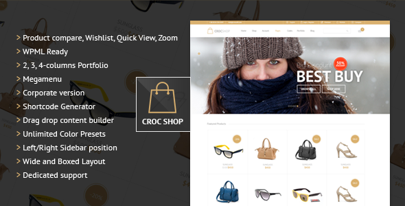 Crocshop Responsive Multipurpose Woocommerce Theme