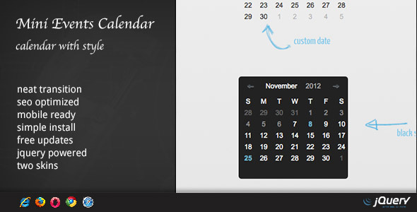 Events Calendar - WordPress Plugin DZS