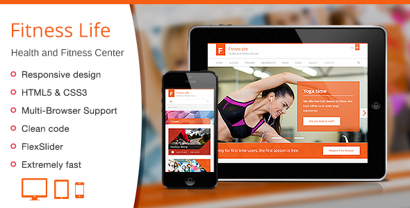 Fitness Life - Gym-Fitness HTML Template