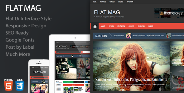 Flat Mag - Responsive Blogger Template