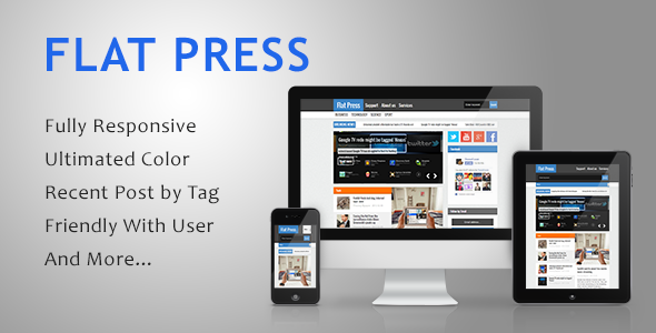 Flat Press - Responsive Blogger Template