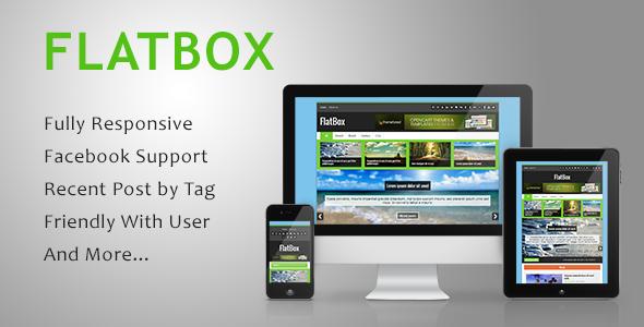FlatBox - Premium Responsive Blogger Template