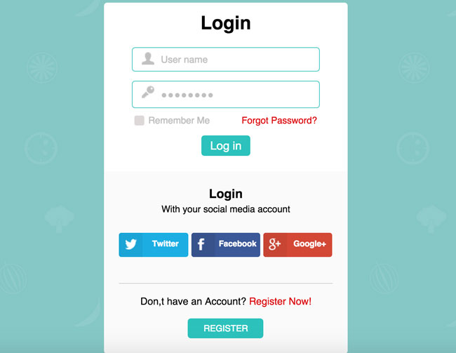 Free-Responsive-Flat-Login-Form-Widget-Template