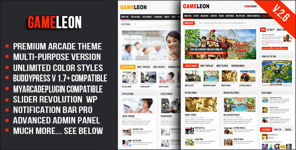 Gameleon - WordPress Arcade Theme