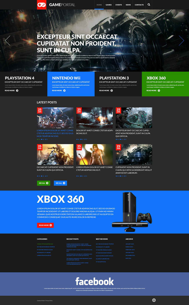 Gaming-Fan-Board-WordPress-Theme