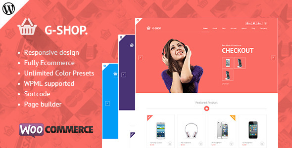 Gshop Advance Featured E-commerce WordPress Theme