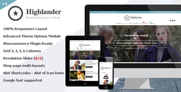 Highlander - Multipurpose Ecommerce Theme