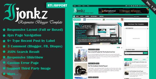 Ijonkz - Responsive Magazine-News Blogger Template
