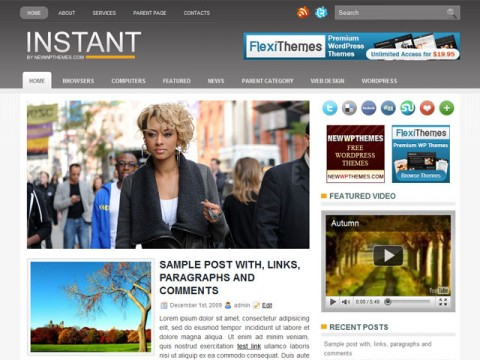 Instant - Free Responsive Themes