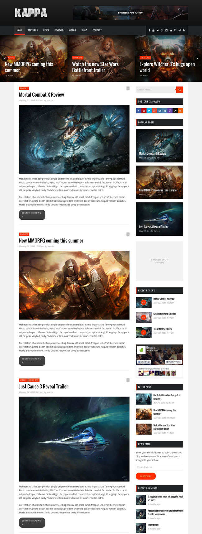 Kappa-A-Gaming-WordPress-Theme