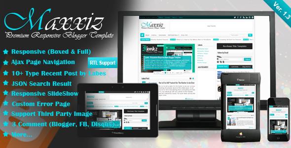 Maxxiz - Responsive Magazine-News Blogger Template