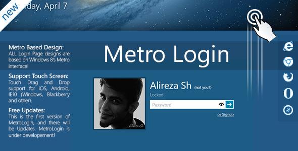 Metro Login Form