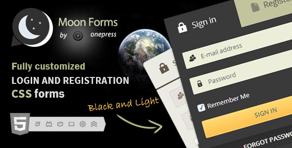 Moon Forms - Login & Registration CSS Forms