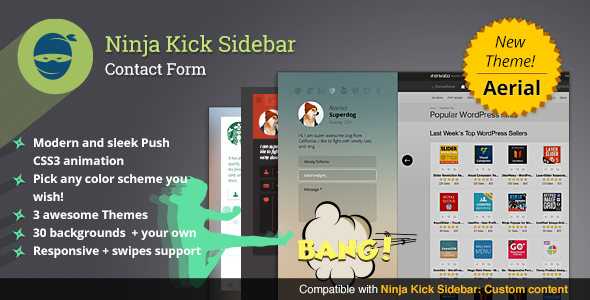 Ninja Kick Sidebar-Contact Form