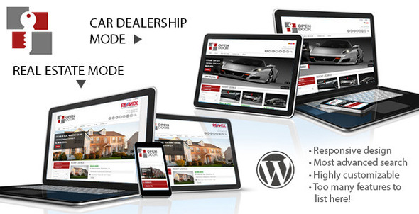OpenDoor Responsive Real Estate and Car Dealership