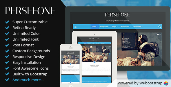 Persefone - Responsive WordPress Blog Theme