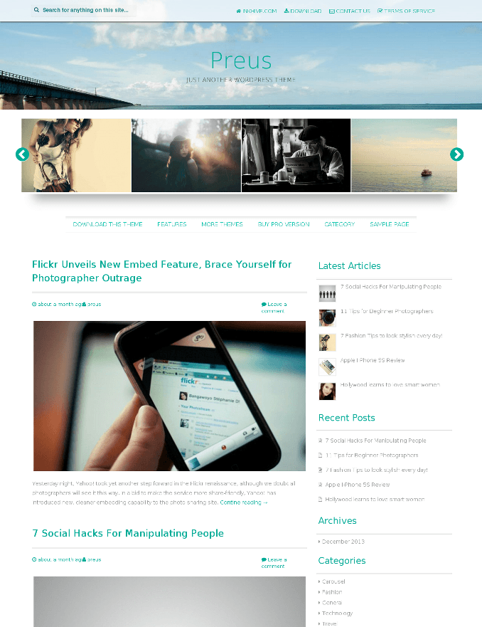 Preus - Responsive WordPress Themes