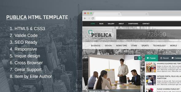 Publica Responsive HTML Template