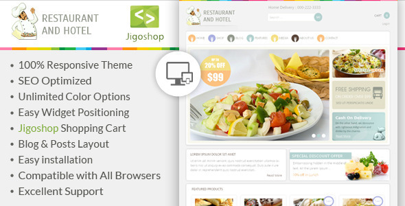 Restaurant - WordPress Jigoshop Theme