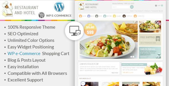 Restaurant - WordPress E-Commerce Theme