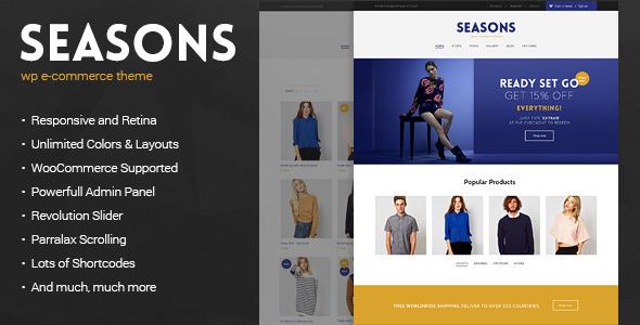 Seasons - WordPress WooCommerce Theme