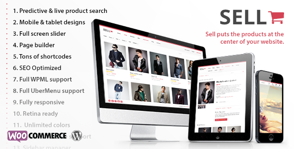 Sell- Responsive eCommerce WordPress Theme