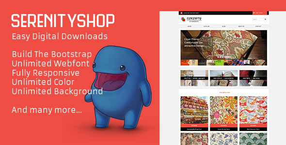 Serenityshop - EDD - Easy Digital Downloads Theme