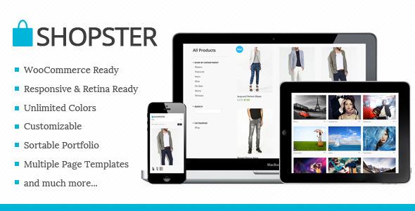 Shopster - Retina Responsive WooCommerce Theme