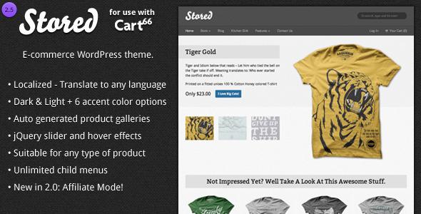 Stored - Ecommerce WordPress Theme for Cart66