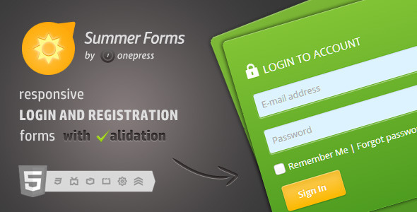 Summer Forms - Login And Registration Forms