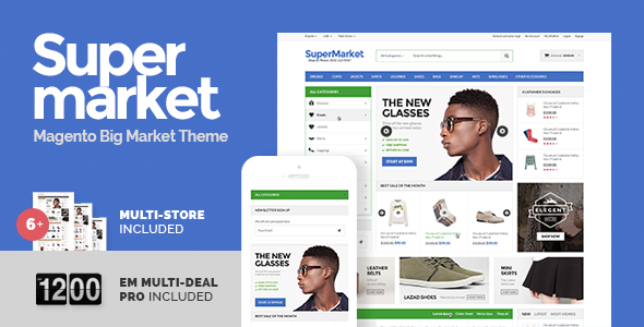 Supermarket & Deal - Responsive Magento theme