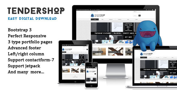 Tendershop Responsive Easy Digital Downloads Theme