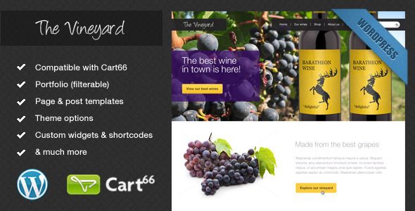 The Vineyard-A WordPress eCommerce Theme