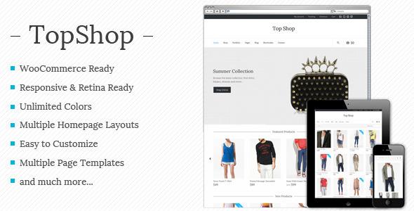 Top Shop - Multi-purpose WooCommerce theme