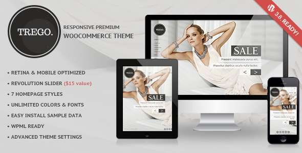 Trego - Ultimate Responsive Woocommerce Theme