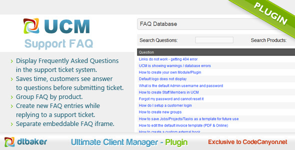 UCM Plugin-Support FAQ Database