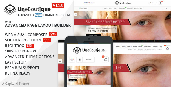 Une Boutique - Advanced WooCommerce Theme