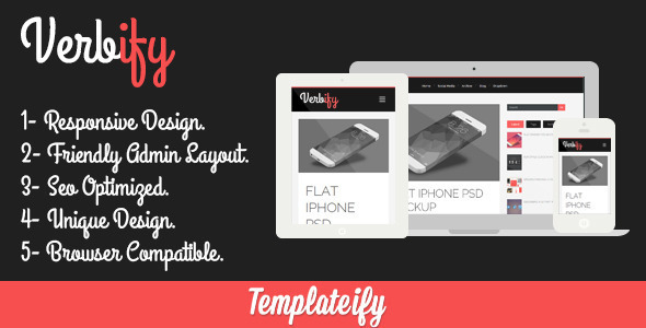 Verbify - Responsive Blogger Template
