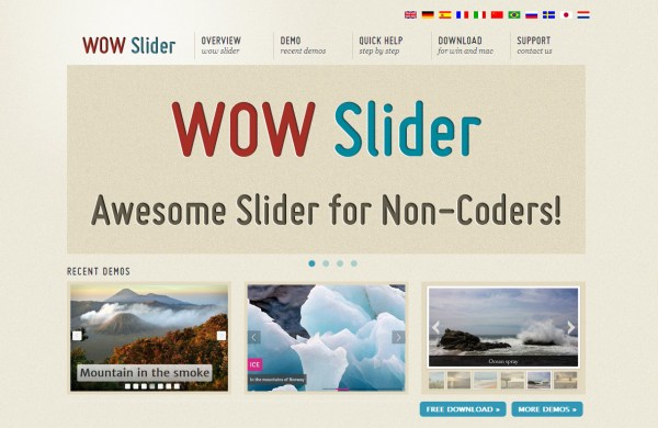 Wow Responsive jQuery Slider