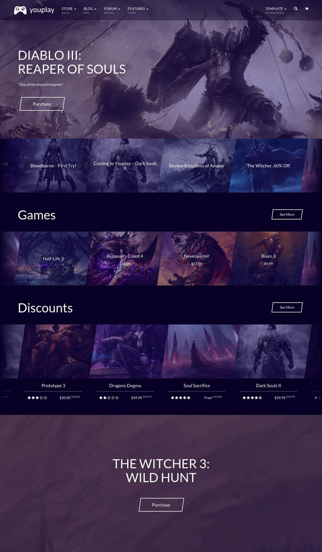 Youplay-Gaming-Wordpress-Template