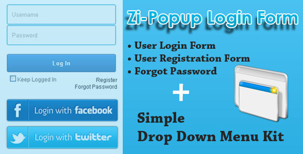 Zi-Popup Login Forms - Pure CSS3
